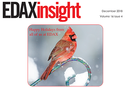 Download your free copy of the December 2018 issue of the EDAX Insight newsletter
