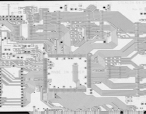 Printed circuit board - total X-ray spectral count image